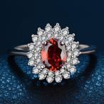 指輪 レディース レッドジルコニア華リング 紅色赤彩色 czダイヤ シルバー925プラチナGP 女性 送料無料