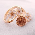 ショッピング指輪 指輪 レディース/花束 フラワービジューリング指輪