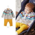 ベビー  BIT'S レイヤード風ニットカバーオール ベビー 赤ちゃん ベビー服 ウェア ウエア カバーオール ロンパース