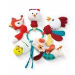 ベビー  Lilliputiens キーリング ファーム Weegoamigo おもちゃ ぬいぐるみ 編みぐるみ トイ 出産祝い ギフト がらがら ガラガラ ラトル