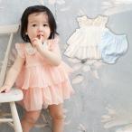 ベビー kids zoo ネコ衿チュニックワンピボディ ベビー 赤ちゃん ベビー服 女の子 ウェア ウエア ロンパース カバーオール