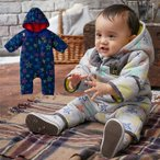 ベビー服 BIT'Z 星柄ジャンプスーツ 防寒 あったか ベビー 赤ちゃん ベビー服 男の子 女の子 つなぎ オールインワン