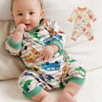 ベビー服 BIT'Z ポケット付 ちび カバーオール 赤ちゃん ベビー用品 長袖 かわいい おしゃれ 男の子 女の子 車 アニマル カラフル ボーダー