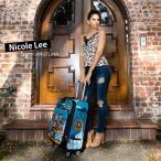 2020新作 数量限定 NICOLE LEE ニコールリー LG1420 ガールプリント 46L キャリーバッグ キャリーケース 旅行 バック スーツケース アートプリント アンティーク
