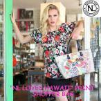 2017新作!NICOLE LEE ニコールリー P11654 ハワイトロピカルプリントトートバッグ オトナ女子力 スパンコール ラインストーンビジュー 海外セレブ