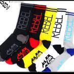 REBEL8 ソックス FLIP LOGO SOCKS REBEL8 クルーソックス 靴下 レベル8 くつした ストリート