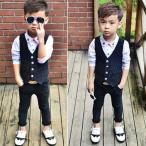 子供 フォーマル 男の子 ベビー スーツ 結婚式 スーツ 2点セット「ベスト ズボン」子供 キッズ 卒業式 入学式 入園式 フォーマル スーツ 子供 スーツ  タキシ