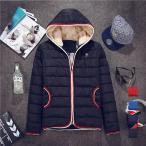 年末年始セール 中綿ジャケット ブルゾン コート メンズ ショート丈 キルティングコート 裏起毛 フードジャケット ボア 細身 あったか アウター 大きいサイズ