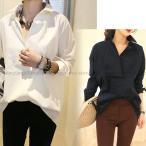 人気新品 シャツ ブラウス チュニック 襟付き 体型カバー ゆったり レディース セール