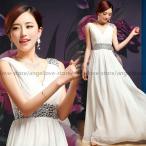ロングドレス 花嫁ドレス ウエディングドレス パーティードレス キャバ嬢ドレ カラードレス 大きいサイズ ホワイト スパンコール ファスナー