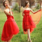 ウェディングドレス ミニ ウエディングドレス ミニドレス カラードレス 二次会ドレス パーティードレス 花嫁ドレス 大きいサイズ 結婚式 披露宴 赤