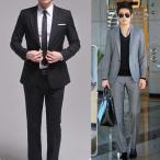スーツ セットアップ メンズ 1ツボタンビジネススーツ スリムスーツ ウォッシャブルスラックス 人気
