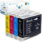 ブラザー LC10-4PK (BK/C/M/Y) 4色セット brother 互換インクカートリッジ 残量表示 ICチップ付 LC10