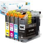ブラザー LC113-4PK (顔料PGBK/C/M/Y) 4色セット brother 互換インクカートリッジ 残量表示 ICチップ付 LC113