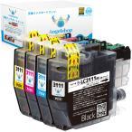 ブラザー LC3111-4PK brother 互換インクカートリッジ 残量表示 ICチップ付 (BK/C/M/Y) 4色セット Ink