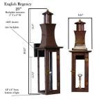 英語Regency 29インチ銅天然ガスランタン