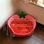 ペットベッド クッション付き 犬ベッド スイカ/イチゴ 猫ベッド オールシーズン 室内 綿質 スポン ...