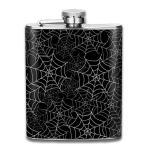 蜘蛛の巣 フラスコ スキットル ヒップフラスコ 7オンス 206ml 高品質ステンレス製 ウイスキー アルコール 清酒 携帯 ボトル