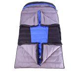 YONGMEI 寝袋 - 屋外ダブルエンベロープ寝袋二重羽毛4.7kg (色 : 青)