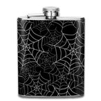 蜘蛛の巣フラスコ スキットル ヒップフラスコ 7オンス 206ml 高品質ステンレス製 ウイスキー アルコール 清酒 携帯 ボトル