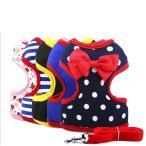 Yahoo!アンジェリツコ Ange Ritsukoハーネス 小型犬 胴輪 犬用 リード セット ベスト ボーダー ドット 犬服 散歩 ペット用品 11月限定セール 犬用品