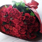 バラの花束 60本 選べる3色 薔薇の花束 還暦のお祝いに 誕生日、記念日のお祝いに【送料無料】