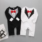 タキシード スーツ 赤ちゃん ベビー ロンパース カバーオール 結婚式 記念撮影 プレゼント ギフト コスプレ