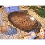 ココナッツのソープディッシュ楕円形14cmアジアン雑貨 バリ雑貨