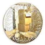 壁掛け バリモザイク ミラー M 丸型 白+鏡 太陽 [D.40cm]丸い鏡 アジアン雑貨 バリ雑貨 タイ アジアンインテリア