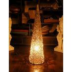 ショッピングラタン ラタンのランプ コーン型 Mサイズ 80cm アジアンインテリア アジアンランプ 照明 エスニック