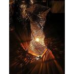 ラタン アタ ツイスト ランプ ナチュラル ベージュ H.60cm アジアン バリ タイ インテリア 籐 照明 お洒落 エスニック フロアー ダウン ライト