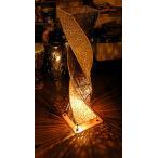 ショッピングラタン ラタンとアタのツイストランプ ナチュラル H.100cm アジアンインテリア アジアンランプ 照明 エスニック