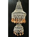 アジアン雑貨 バリ雑貨 貝殻のインテリア シェルのシャンデリア 巻貝 2段 Lサイズ 全長約65cm