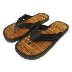 メンズサンダル26〜27cmおしゃれなサンダルエスニック草履雪駄歩きやすい中敷畳アジアンサンダル黒ブラウンアジアン雑貨タイ雑貨