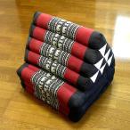 タイ三角枕3段マット象刺繍黒x赤エスニックおしゃれなクッション三角枕アジアン雑貨タイ雑貨バリ雑貨