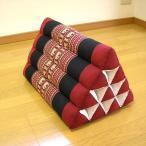 タイの三角枕(マット無し)腰掛クッションレッドxブラック象さん柄エスニックおしゃれな三角枕アジアン雑貨タイ雑貨バリ雑貨