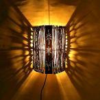 ショッピング雑貨 ココナッツの枝とアタのメタル壁掛けランプ アジアン雑貨 バリ雑貨 アジアンインテリア アジアンランプ 照明 エスニック