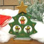アジアン雑貨 バリ雑貨クリスマス特価 カエル天使 X'masツリー グリーン H.17cm