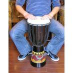 ジャンベ 太鼓 H.60cm ドットペイント ダークブラウン アジアン雑貨 バリ雑貨 アジアの楽器
