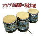 3連太鼓ドットペイント アジアン雑貨 バリ雑貨 タイ雑貨 ティンプトンドラム アジアの楽器