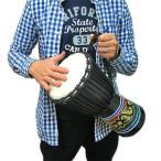 ジャンベ [太鼓] H.40cm ドットペイント黒 アジアの楽器 アジアン 雑貨 バリ 雑貨 タイ 雑貨 アジアン インテリア