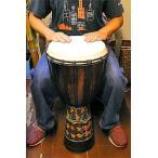 ジャンベ 太鼓 H.70cm ドットペイント ブラウン アジアン雑貨 バリ雑貨 アジアの楽器