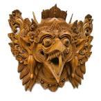 アジアン雑貨 バリ雑貨 壁掛け 木彫りの『ガルーダ』[横24cmx縦22cm]