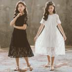 子どもワンピース 女の子ワンピ フォーマルドレス 子供ドレス 七五三 発表会 結婚式  大きいサイズ 黒白