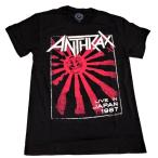 ANTHRAX アンスラックス LIVE IN JAPAN オフィシャル バンドTシャツ【正規ライセンス品】