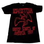 LED ZEPPELIN レッド・ツェッペリン USA 1977 RED LETTERING オフィシャル バンドTシャツ【正規ライセンス品】