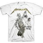 METALLICA  メタリカ  JUSTICE WHITE  オフィシャル バンドTシャツ 【2枚までメール便対応可】