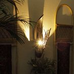 アジアン 壁掛けランプ ブラケット 間接照明 ココナッツクレッセント (コンセント付き) アウトレットセール