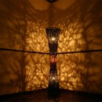 おしゃれな間接照明 フロアスタンド モダンなアジアンリゾートラタンランプ150