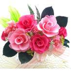 プリザーブドフラワー アレンジメント ギフト ストロベリーローズ ピンクローズ 春のお祝いに 祝